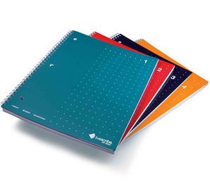 Smartpen anteckningsblock, A4 spiralbunden, linjerad, 4-pack