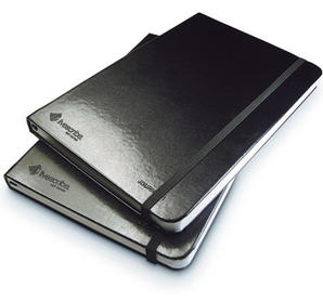 Smartpen anteckningsbok, inbunden, olinjerad, 2-pack, svart
